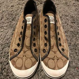 Coach Brown Slip-on Sneakers